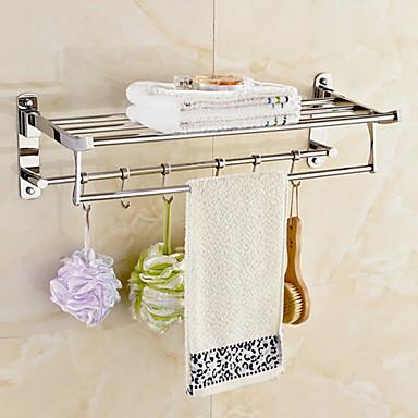 Hylle til badeværelset Moderne Rustfritt Stål 1 stk - Hotell bad