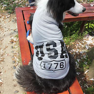 חתול כלב טי שירט בגדים לכלבים אמריקאי / ארה