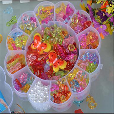 iso luumu läpinäkyvä kristalli lasten DIY helmiä neulonta lelut väri akryyli helmiä koulutus helmi