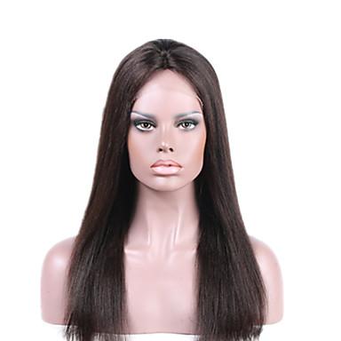 billige Blondeparykker med menneskehår-Ekte hår Helblonde Blonde Forside Parykk stil Brasiliansk hår Bølget Parykk 130% Hair Tetthet med baby hår Naturlig hårlinje Afroamerikansk parykk 100 % håndknyttet Dame Kort Medium Lengde Lang