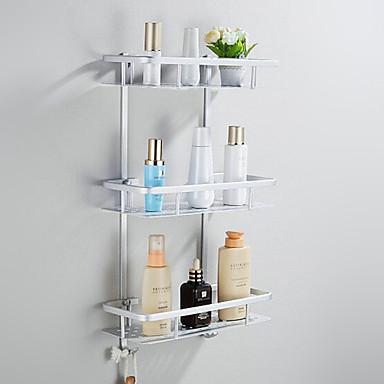 Kylpyhuonehylly Eloksointi Seinään asennettu 32*23*18cm Alumiini Moderni