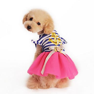 개 드레스 옐로우 / 핑크 강아지 의류 여름 / 모든계절/가을 Randig 패션