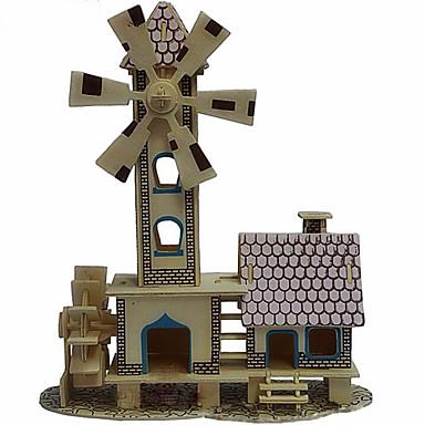 jigsaw zagonetke 3D puzzle Drvene puzzle Građevni blokovi DIY igračke Vjetrenjača Drvo