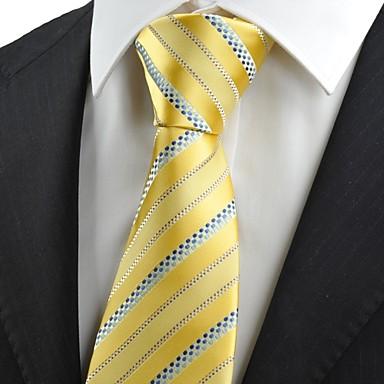 Krawatte(Blau / Gelb,Polyester)Gestreift