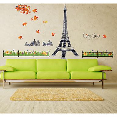 Botânico / Floral / Paisagem Wall Stickers Autocolantes de Aviões para Parede,pvc 60*80cm