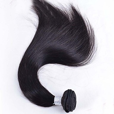 Бразильские волосы Прямой Ткет человеческих волос 1 шт. Человека ткет Волосы