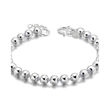 Damen Glasperlen Ketten- & Glieder-Armbänder - Sterling Silber, versilbert Armbänder Silber Für Hochzeit