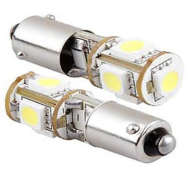 2 개 12V 5w 화이트 컬러가 주도 사이드 마커 빛을 주도, BA9S이 버스는 수 빛을 읽고 주도, 번호판 빛