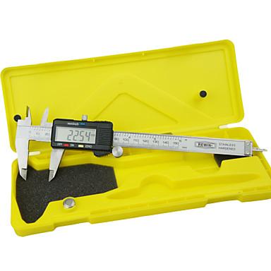 rewin® työkalu ruostumaton teräs digitaalinen työntömitta 0-150mm metriikka ja tuuma