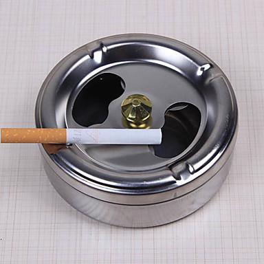 praktisk røyking rustfritt stål askebeger lokk rotasjon helt lukket hjem gadgets