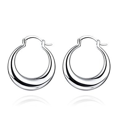 여성용 스터드 귀걸이 클립 귀걸이 구리 은 도금 Circle Shape Geometric Shape 보석류 결혼식 파티 일상 캐쥬얼