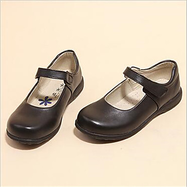 Mädchen Schuhe PU Sommer Flache Schuhe Flacher Absatz Schleife Imitationsperle Für Kleid Schwarz
