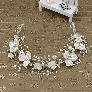 Femme Jeune bouquetière Imitation de perle Plastique Casque-Mariage Occasion spéciale Décontracté Extérieur Serre-tête 1 Pièce