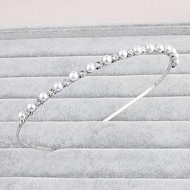Perle Strass Stirnbänder Kopfbedeckung with Blumig 1pc Hochzeit Besondere Anlässe Normal Büro & Karriere Draussen Kopfschmuck