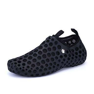 Herrn Schuhe Tüll Kunststoff Frühling Herbst Leuchtende Sohlen Knöchelriemen Komfort Walking Ausgehöhlt für Sportlich Normal Draussen