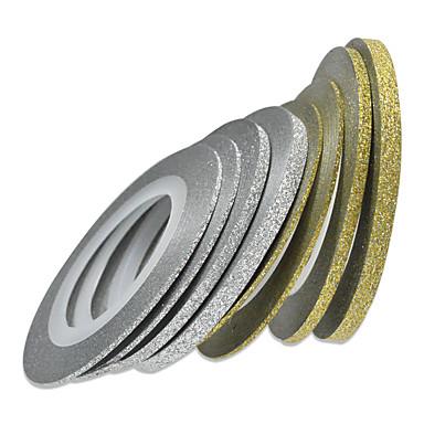 1db 1mm 20m köröm arany / ezüst csillogó csík szalag köröm díszítés eszközök nc275