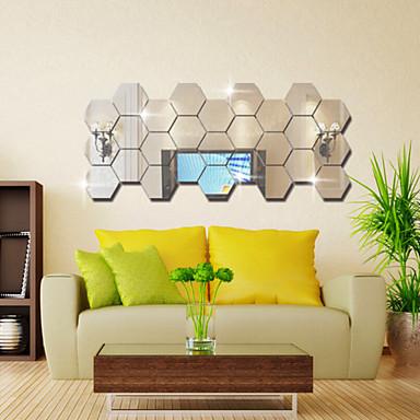 Dekorative Wand Sticker - Spiegel Wandsticker Mode / Fantasie / 3D Wohnzimmer / Schlafzimmer / Esszimmer / Waschbar / Abziehbar