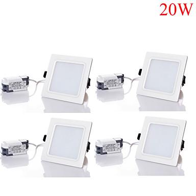 20W LED Deckenstrahler 40pcs SMD 5730 1800-2000 lm Warmes Weiß / Kühles Weiß / Natürliches Weiß Dimmbar / Dekorativ AC 85-265 V 4 Stück