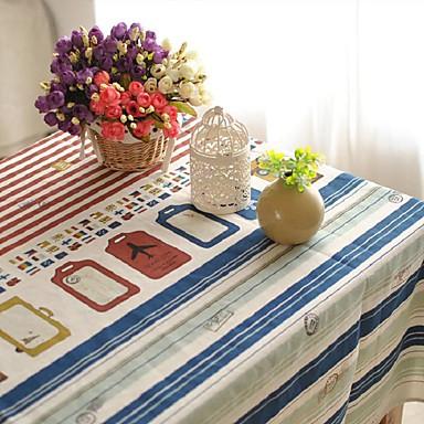Carré Avec motifs Nappes de table , Mélange Lin/Coton Matériel Tableau Dceoration