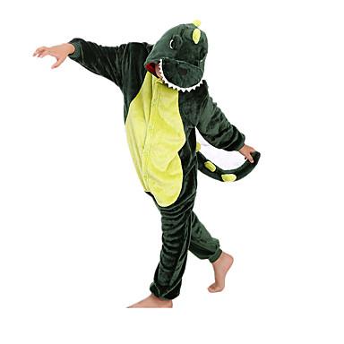 Pyžama Kigurumi Dinosaurus Pyžamo Onesie Kostým Flanel Fleece Zelená Cosplay Pro Dětské Animal Sleepwear Karikatura Halloween Festival /
