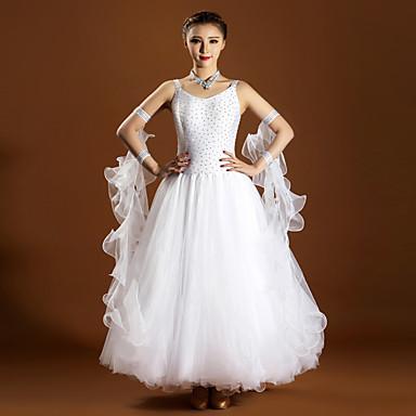 Tanzsport Kleidung Kleider Damen Vorstellung Elastan Tüll 6 Stück Ärmellos Normal Kleid Neckwear Armbänder