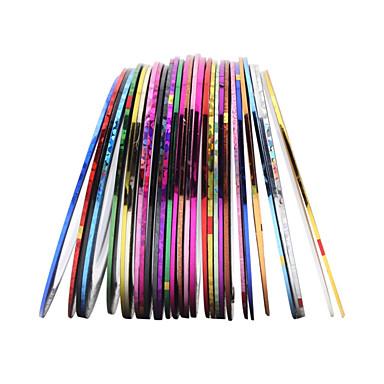 30 Farben rollt Striping-Klebeband-Linie Nagel-Kunst-Aufkleber Werkzeuge Schönheit Dekorationen