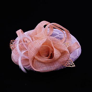 lin snøre fjær legering fascinators headpiece klassisk feminin stil
