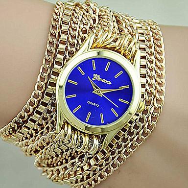 Damen Modeuhr Armband-Uhr Quartz Legierung Band Gold Kaffee Rot Blau Rosa Leicht Grün