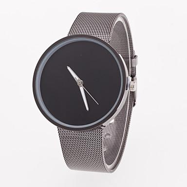 Homens Quartzo Relógio de Pulso Relógio Casual Aço Inoxidável Banda Minimalista Cinza