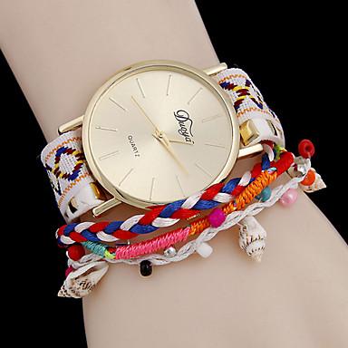 Damen Modeuhr Armband-Uhr Quartz Armbanduhren für den Alltag Legierung Band Schwarz Weiß Blau Silber Rosa Rose
