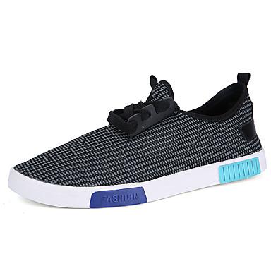 Herren-Sneaker-Lässig-TüllKomfort-Schwarz Blau Weiß