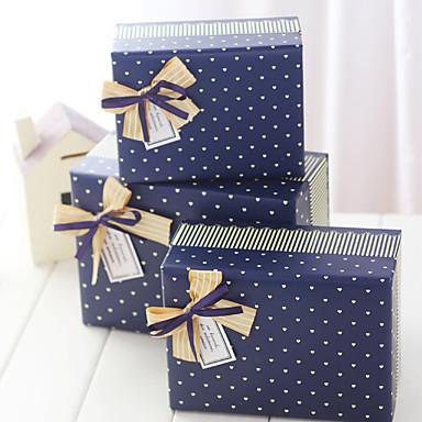 Quader Kartonpapier Geschenke Halter mit Schleife Geschenk Schachteln