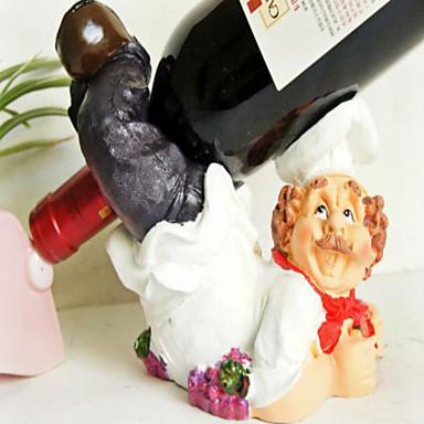אבזרי קישוט מלאכת מתקני drinkware וכלי מטבח שף שרף דקורטיווי מתל טבח פסלון יין חמוד