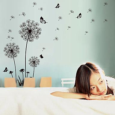 Romantik Mode Blumen Landschaft Wand-Sticker Flugzeug-Wand Sticker Dekorative Wand Sticker Stoff Abziehbar Repositionierbar Haus