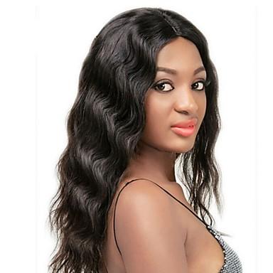 Echthaar Vollspitze / Spitzenfront Perücke Große Wellen 130% / 150% Dichte Natürlicher Haaransatz / Afro-amerikanische Perücke / 100 %