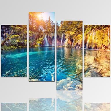 Abstrakt / Fantasie / Freizeit / Landschaft / Architektur / Photografisch / Modern / Romantisch Leinwand drucken Vier PaneleFertig zum