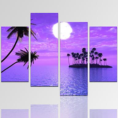 Abstrakt / Freizeit / Landschaft / Architektur / Photografisch / Modern / Romantisch / Fantasie Leinwand drucken Vier PaneleFertig zum