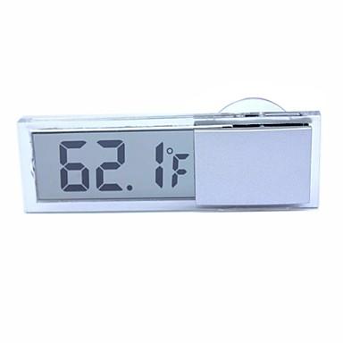 : Ziqiao tapadókorongos autó hőmérő digitális kijelző hőmérő átlátszó folyadékkristályos kijelző