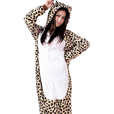 b7d06731d8 Adults  Kigurumi Pajamas Leopard Onesie Pajamas Flannel Toison Brown Cosplay  For Men and Women Animal