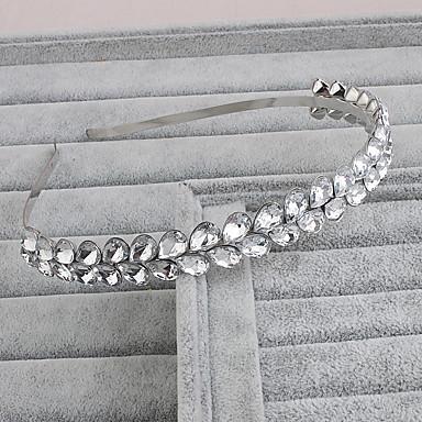 Krystall pannebånd med 1 Bryllup / Spesiell Leilighet / Avslappet Hodeplagg
