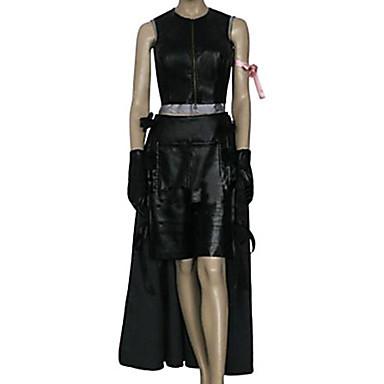 Esinlenen Final Fantasy Tifa Lockhart Video oyun Cosplay Kostümleri Cosplay Takımları Solid Kolsuz Top Etek Şort