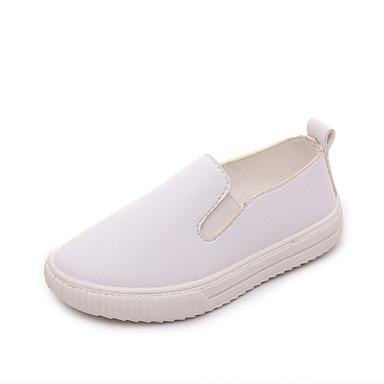 Kényelmes-Lapos-Női cipő-Papucsok & Balerinacipők-Szabadidős Ruha Alkalmi Sportos Party és Estélyi-Bőrutánzat-Fekete Sárga Rózsaszín Fehér