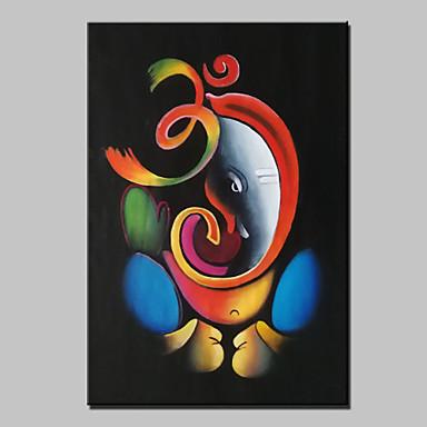 100% Hand-painted Om Ganesha Ganpati Oil Painting On ...