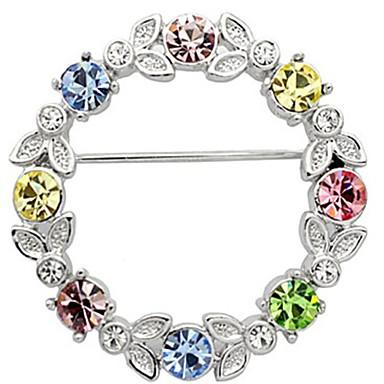 Dame Strass Sølvplett imitasjon Diamond Sølv Smykker Bryllup Fest Avslappet