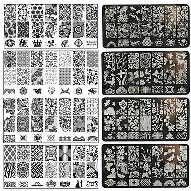 1pc מסמר אמנות מתכת DIY הדפסת צלחות-bc01-10