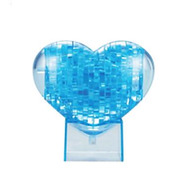 jigsaw zagonetke 3D puzzle / Kristalne puzzle Građevni blokovi DIY igračke Srcolik ABS Smeđa Igračka model i građenje