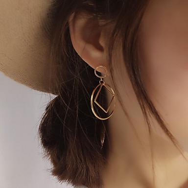 Dame Geometrisk Stangøreringe - Europæisk, minimalistisk stil, Mode Sølv / Gylden Til Fest / Daglig / Afslappet