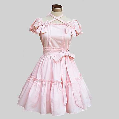 Prinzessin Niedlich Damen Kleid Cosplay Blau / Rosa Schmetterling Kurzarm Mittlerer Länge Halloween Kostüme