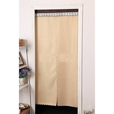פאנל אחד טיפול חלון קאנטרי ארופאי , אחיד חדר שינה שילוב פשתן/פוליאסטר חוֹמֶר דלת לוח וילונות וילונות קישוט הבית For חַלוֹן