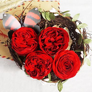 1 Ág Igazi érintés Others Rózsák Asztali virág Művirágok